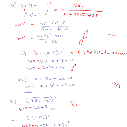 Baustein Notationskontrolle